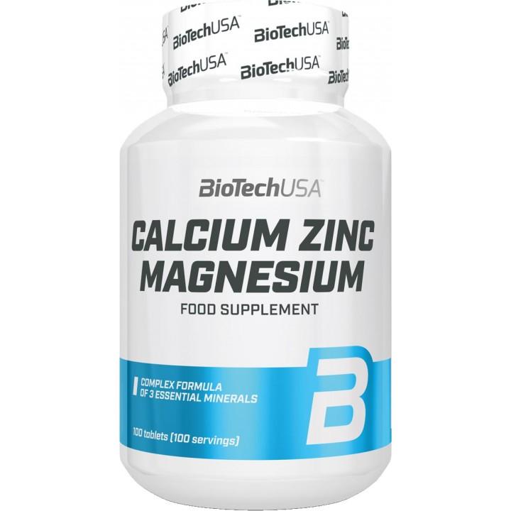 Кальций, цинк и магний BioTech USA Calcium Zinc Magnesium