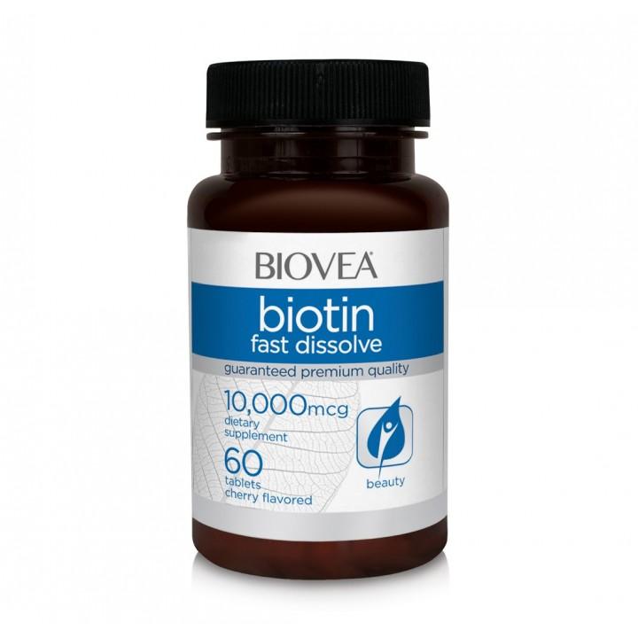 Биотин Biovea Biotin 10000 Fast Dissolve (60 таб)