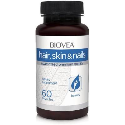 Кожа волосы ногти Biovea Skin Hair Nails (60 капс)
