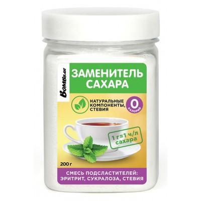 Сахарозаменитель Bombbar Эритрит, сукралоза, стевия (200 гр)