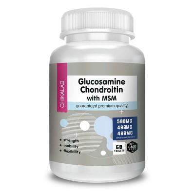 Глюкозамин хондроитин МСМ Chikalab Glucosamine Chondroitin & MSM (60 таб)