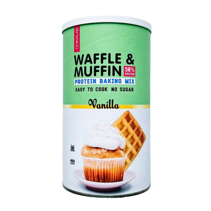 Смесь для кексов и вафель Chikalab Waffle & Muffin Protein Baking Mix (480 гр)