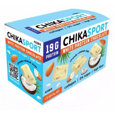 Белый шоколад без сахара Chikalab Chika Sport (100 гр)