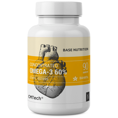 Рыбий жир CMTech Omega-3 60% (90 капс)