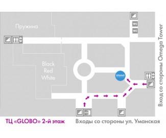 Расположение магазина Gamma.by на Уманской 54 2 этаж, 66 павильон