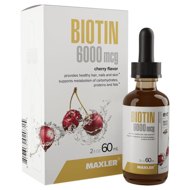 Биотин Maxler Biotin 6000 mcg Drops (60 мл)