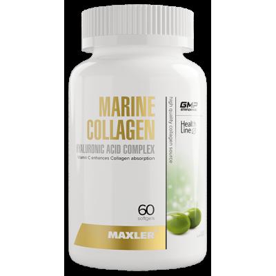 Коллаген, гиалуроновая кислота Maxler Marine Collagen + Hyaluronic Acid complex (60 капс)