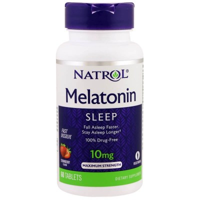 Мелатонин Natrol Melatonin 10mg Fast Dissolve (60 таб)