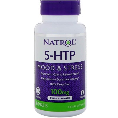 5-Гидрокситриптофан Natrol 5-HTP 100mg (45 таб)