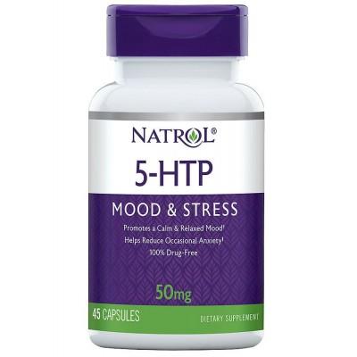 5-Гидрокситриптофан Natrol 5-HTP 50mg (45 таб)