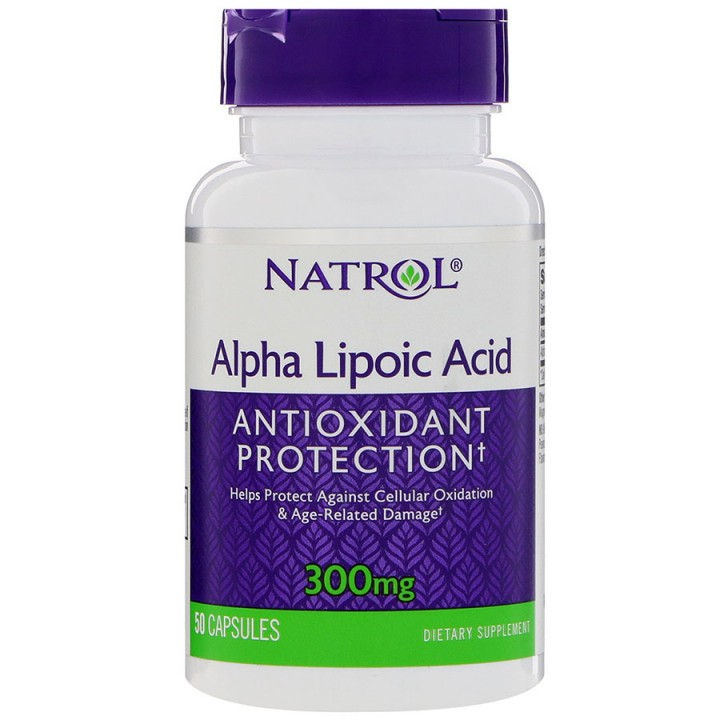 Альфа-липоевая кислота Natrol ALA 300mg (50 капс)