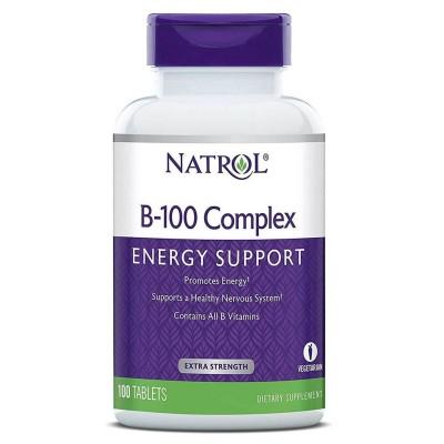 Витамины группы Б Natrol B-100 Complex (100 таб)