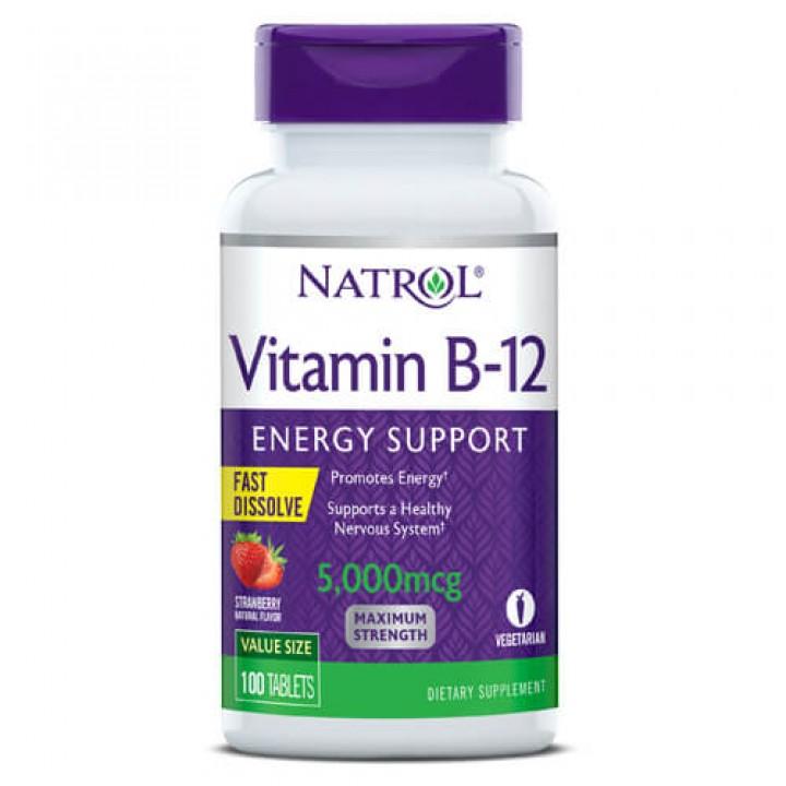 Витамин Б12 Natrol Vitamin B12 5000mcg (100 таб)
