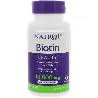 Биотин Natrol Biotin Maximum Strength (100 таб)