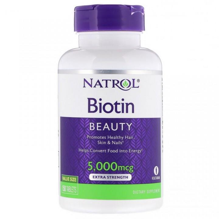 Natrol Biotin 5000 (150 таб)