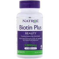 Natrol Biotin Plus (60 таб)