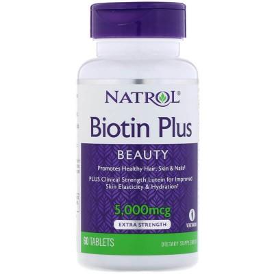 Биотин Natrol Biotin Plus (60 таб)