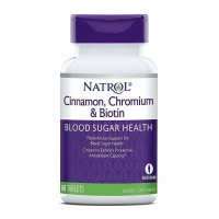 Natrol Cinnamon, Chromium & Biotin (60 таб)