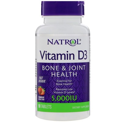 Витамин Д3 Natrol Vitamin D3 5,000 IU Fast Dissolve (90 таб)
