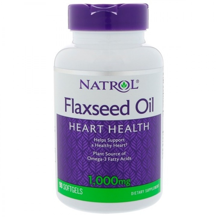 Natrol Omega-3 Flaxseed Oil - льняное масло