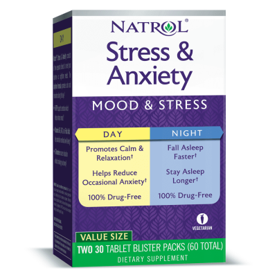 Антистресс Natrol Stress & Anxiety (60 капс)