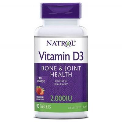 Витамин Д3 Natrol Vitamin D3 2,000 IU Fast Dissolve (90 таб)