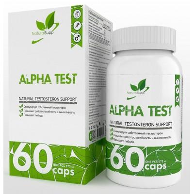 Тестостероновый бустер NaturalSupp Alpha Test (60 капс)