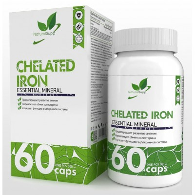 Железо хелат NaturalSupp Chelated Iron (60 капс)
