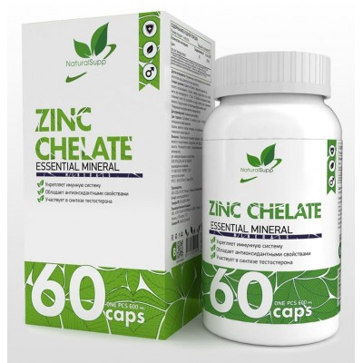 Цинк Хелат Natural Supp Zinc Chelate (60 капс)