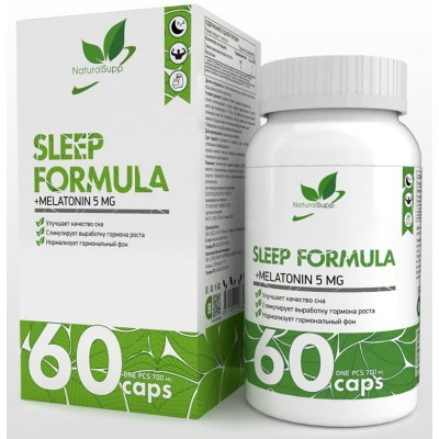 Габа, мелатонин NaturalSupp Sleep Formula (60 капс)