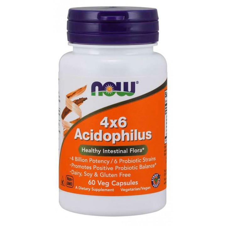 Ацидофилус Now Foods Acidophilus 4x6 Billion (60 капс)