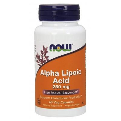 Альфа-липоевая кислота Now Alpha Lipoic Acid 250mg