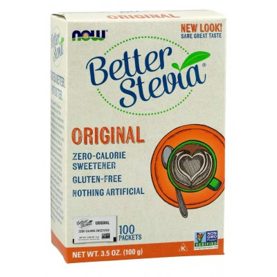 Сахарозаменитель Стевия Now Foods Better Stevia Original (100 пак)
