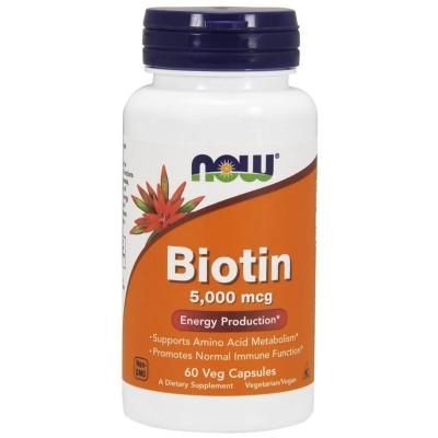 Биотин Now Foods Biotin 5000