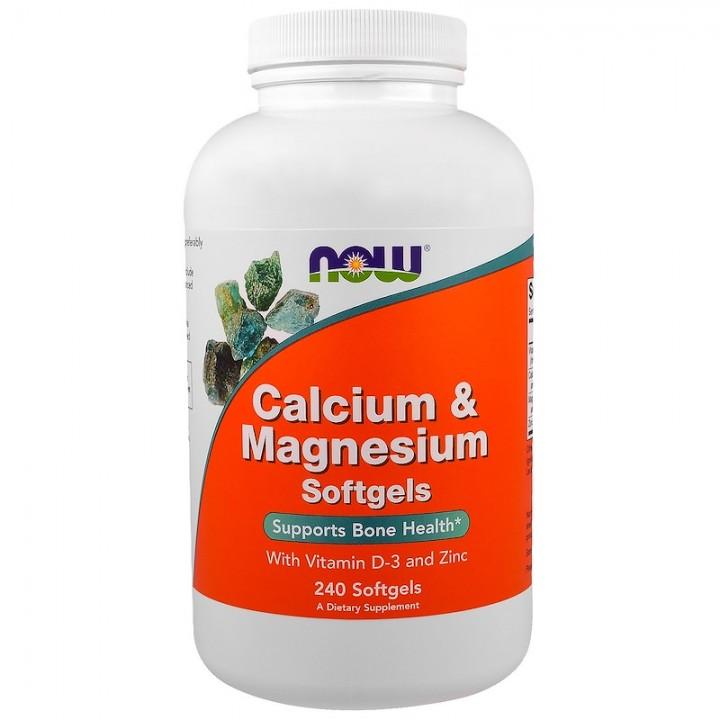 Витамины Now Foods Calcium & Magnesium + D3, Zinc (240 капс)