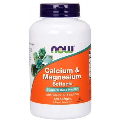 Витамины Now Foods Calcium & Magnesium + D3, Zinc