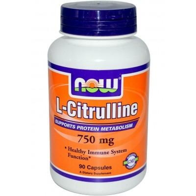 Цитруллин NOW L-Citrulline 750 (90 капс)