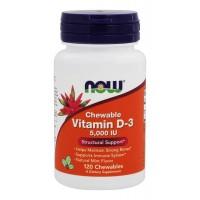 Now Foods Vitamin D-3 5000 IU Chewable (120 жев. таб)