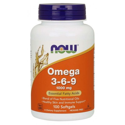 Омега 3-6-9 Now Foods Omega 3-6-9 1000mg (100 капс)