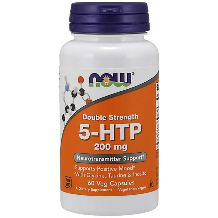 5-Гидрокситриптофан Now Foods Double Strength 5-HTP 200mg (60 капс)