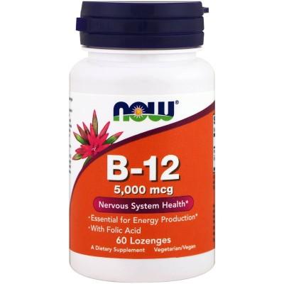Витамин Б12 Now Foods B-12 5000 (60 таб)
