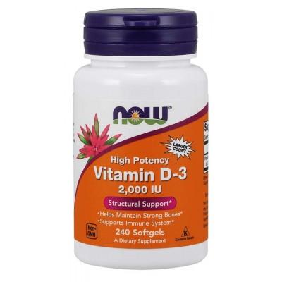 Витамин Д3 Now Foods Vitamin D-3 2000 IU (240 капс)