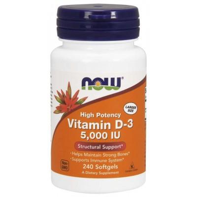 Витамин Д3 Now Foods Vitamin D-3 5000 IU (240 капс)