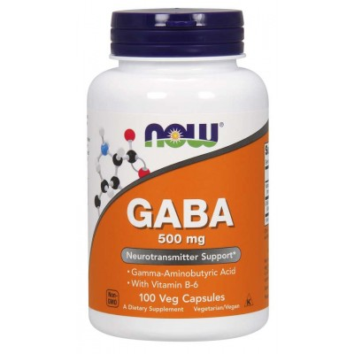 Габа Now Foods GABA + B6 500 мг (100 капс)