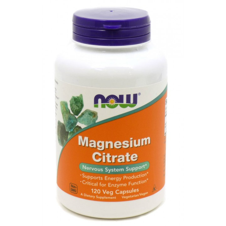 Магний Now Foods Magnesium Citrate (120 капс)