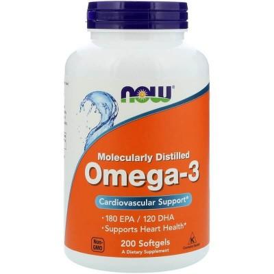 Рыбий жир Now Foods Omega-3 (200 капс)