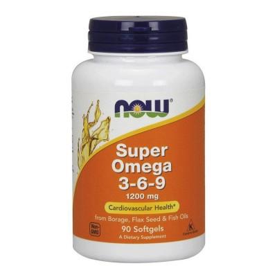 Жирные кислоты Now Foods Omega 3-6-9 (90 капс)