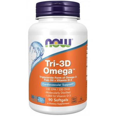 Омега с витамином Д Now Foods Tri-3D Omega (90 капс)