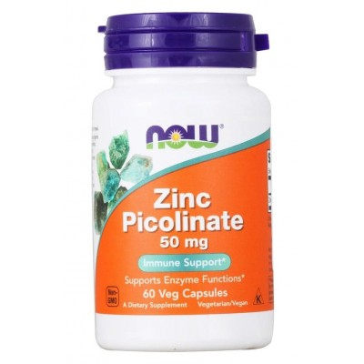 Цинк Пиколинат Now Foods Zinc Picolinate (60 капс)