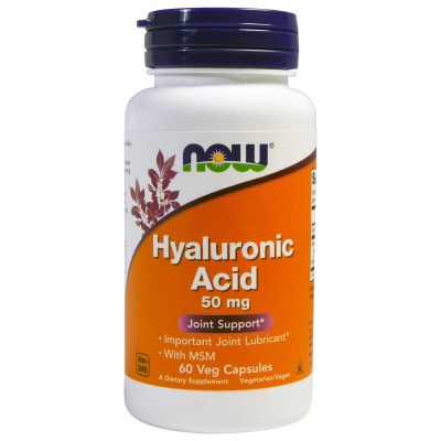 Гиалуроновая кислота Now Foods Hyaluronic Acid 50 mg + MSM (60 капс)